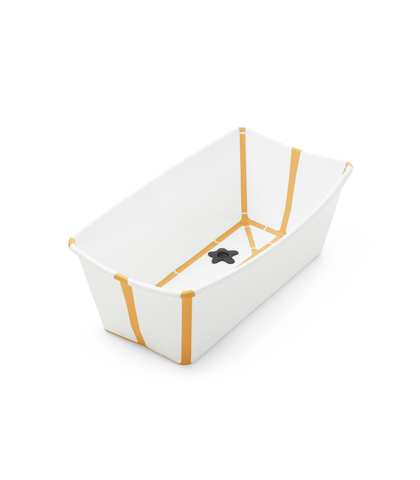 Stokke® Flexi Bath® bath tub, White Yellow. Open. view 2