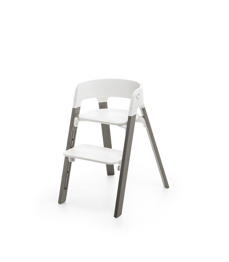 Stokke® Steps™ Stoel, White/Hazy Grey, mainview