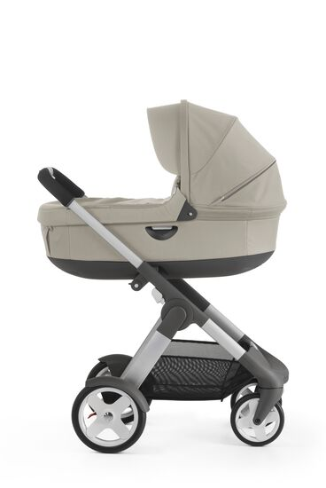 With Stokke® Stroller Carry Cot, Beige.
