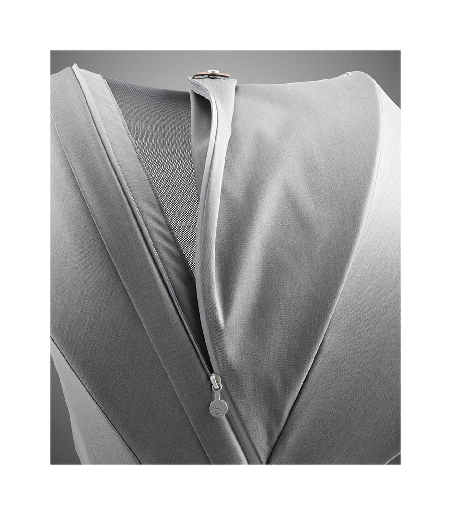 Stokke® Xplory® X Modern Grey Stroller Detail Canopy Ventilation view 9
