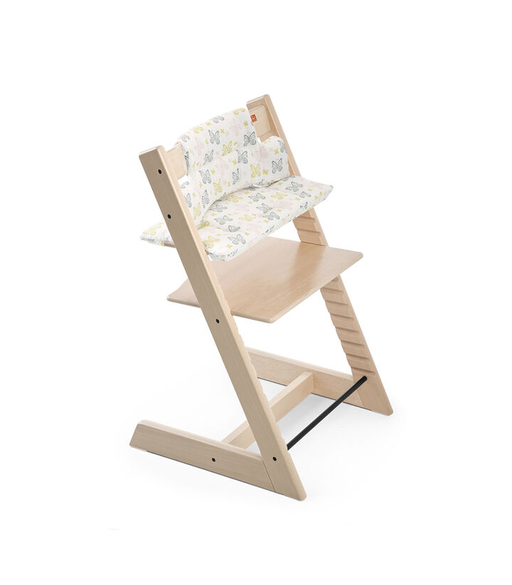 Tripp Trapp® Natural with Sweet Butterfly Cushion .