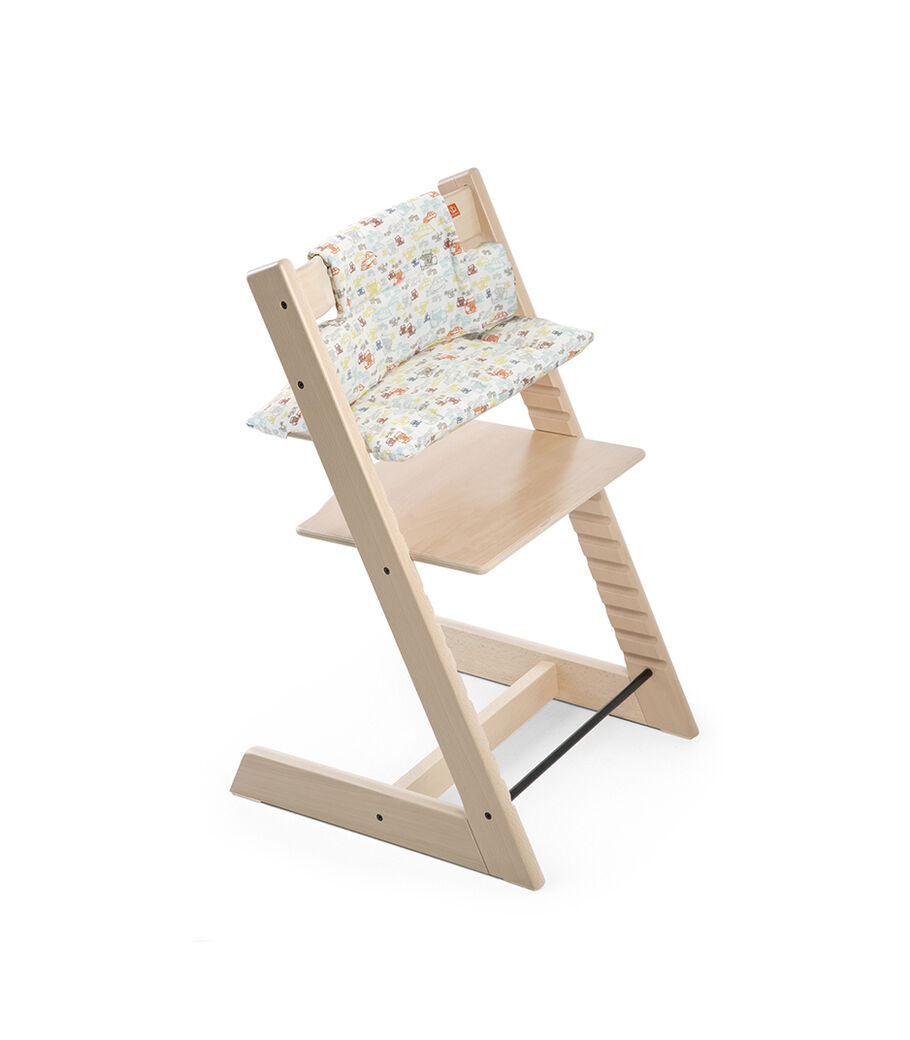 Tripp Trapp® Natural with Classic Baby Cushion Retro Cars