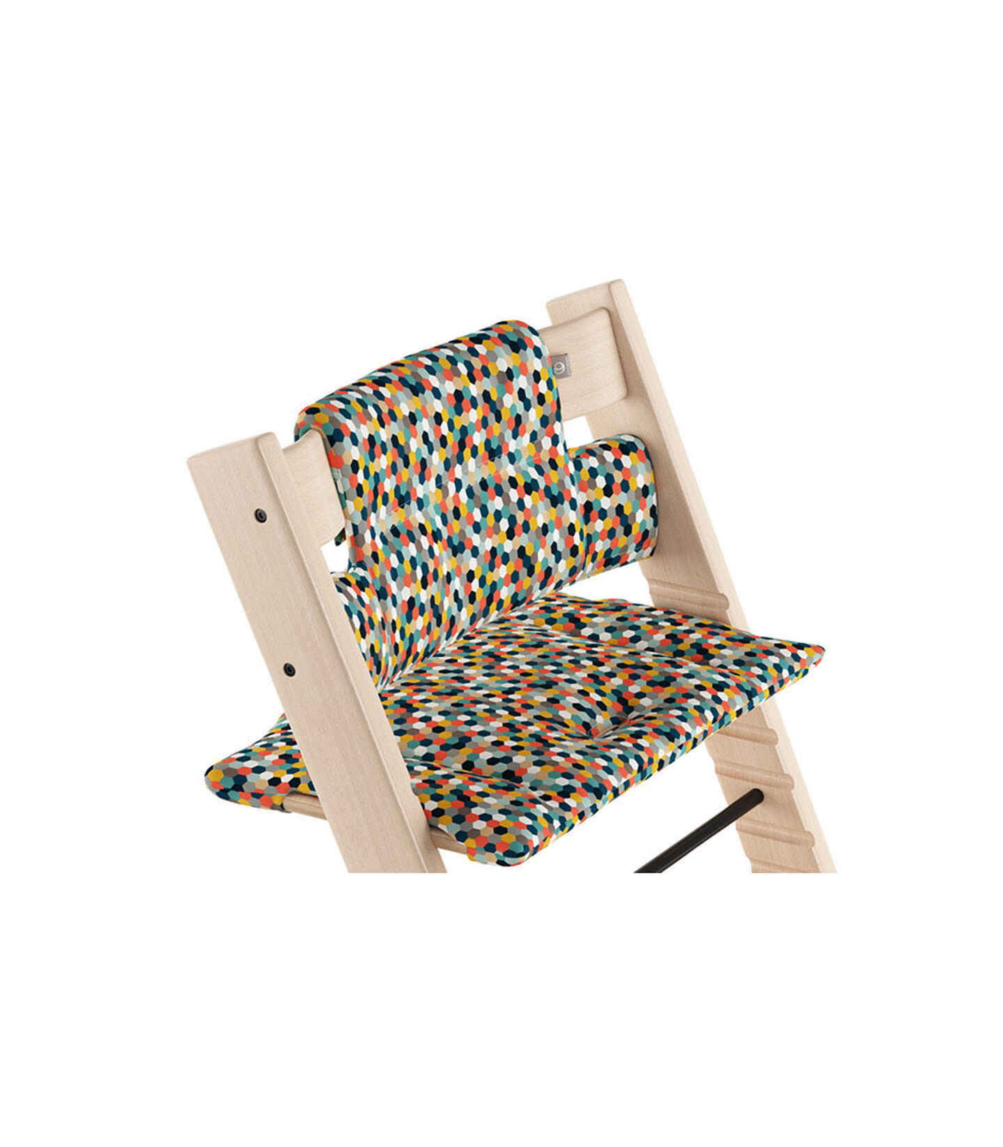 Tripp Trapp® Natural with Classic Cushion Honeycomb Happy.  view 1
