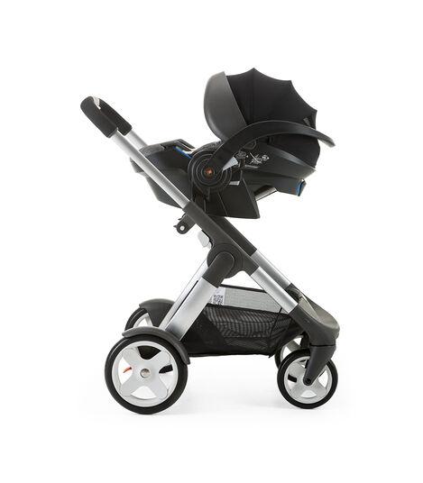 Stokke® iZi Go Modular™ by Besafe®, Black Melange. Mounted on Stokke® Crusi™.