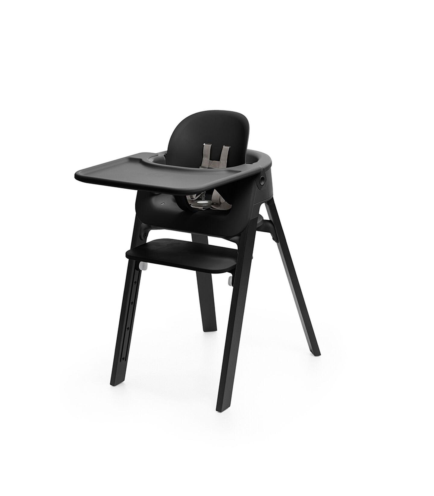 Stokke® Steps™ Baby Set in de kleur Black, Black, mainview view 3