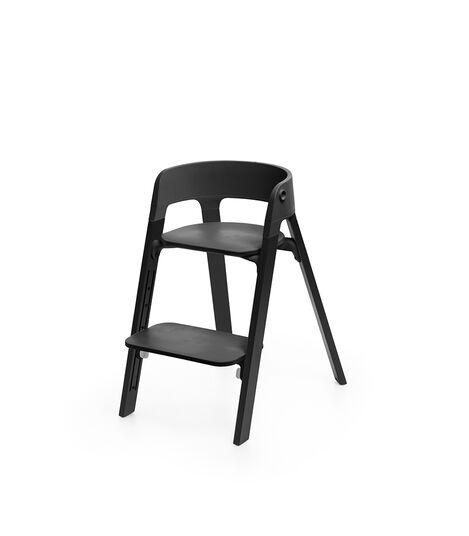 Stokke® Steps™ Chair Black Seat Oak Black Legs, Oak Black, mainview view 2