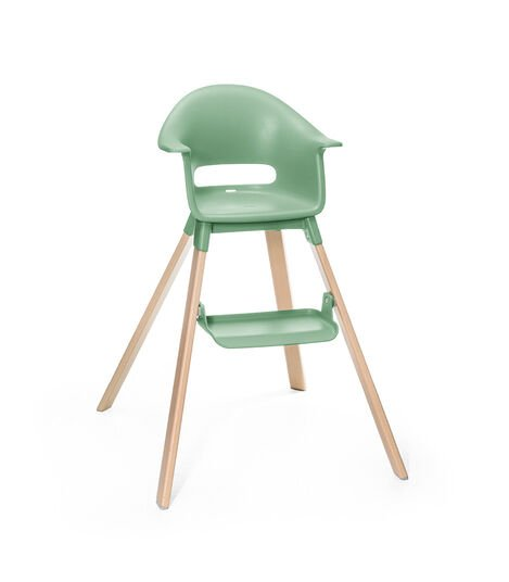 Stokke® Clikk™ High Chair. Natural Beech wood and Clover Green plastic parts. view 4