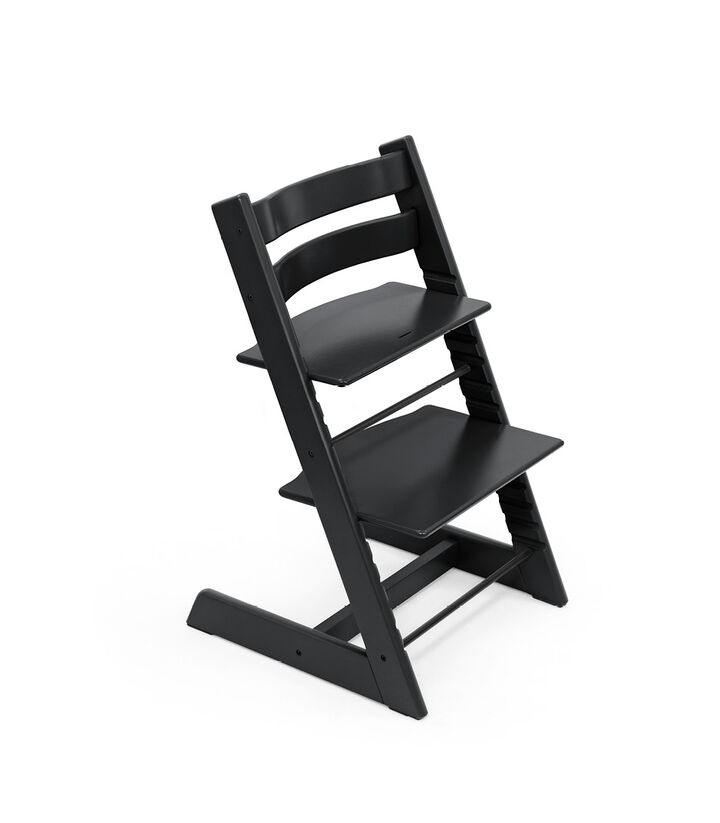 Tripp Trapp® chair Black, Beech Wood. view 1