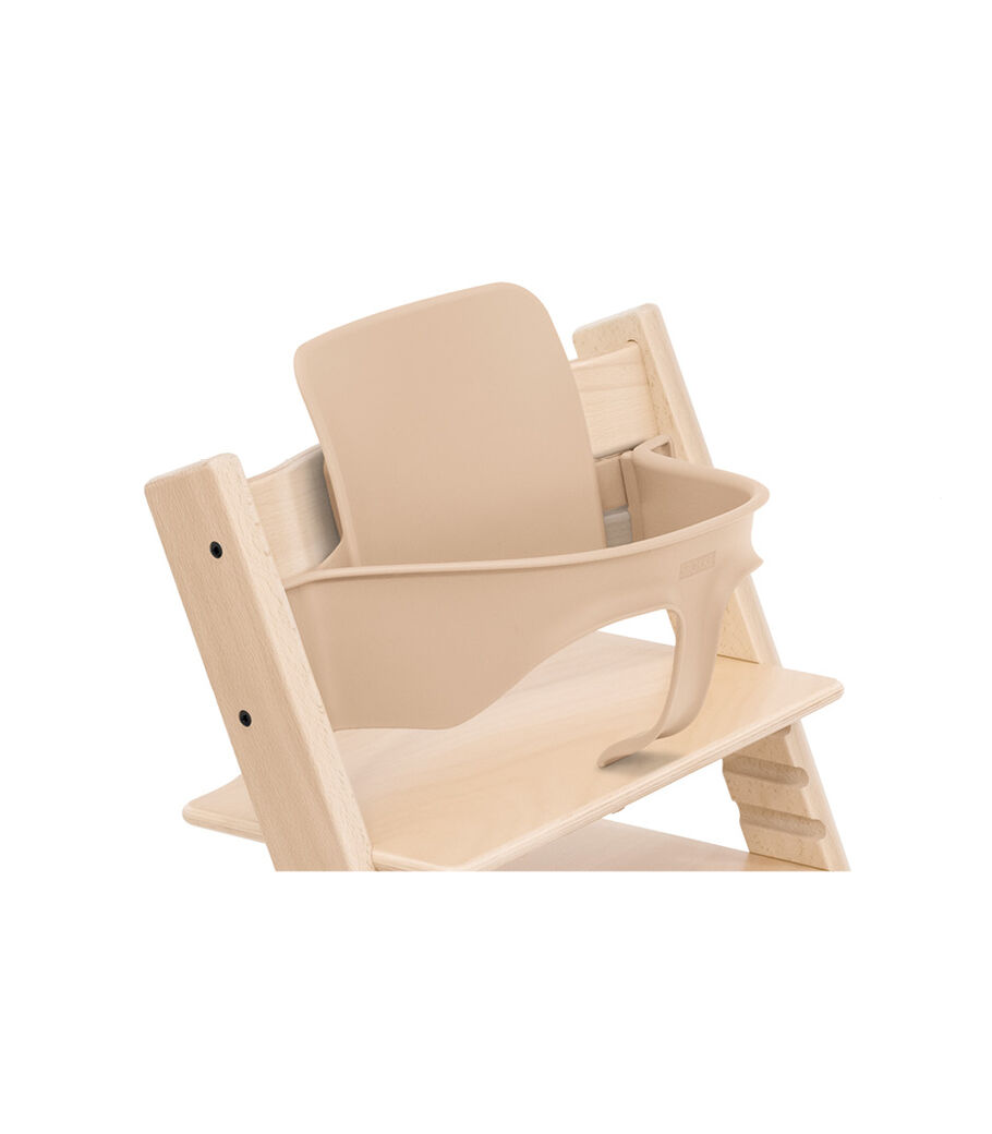 Tripp Trapp® Chair Natural with Baby Set. Close-up.