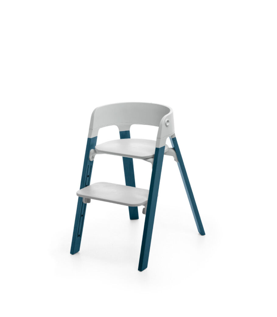 Stokke® Steps™ Midnight Blue with Light Grey seat.