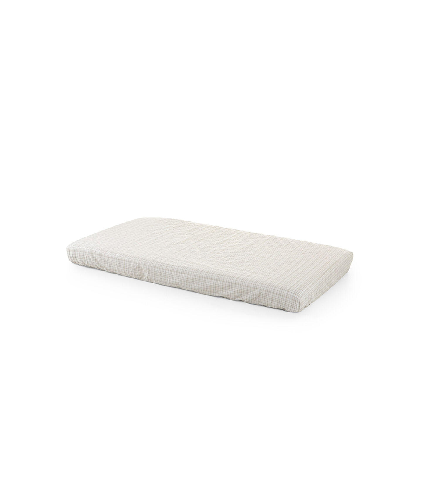 Stokke® Home™ Fitted Sheet. Beige Check.