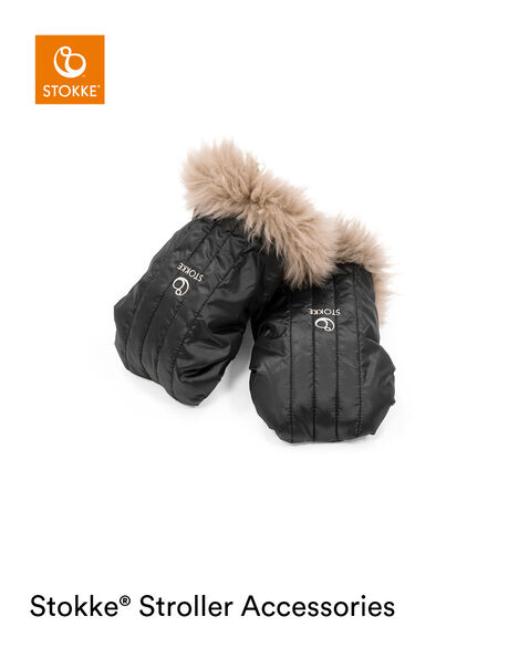 Stokke® Stroller Mittens Onyx Black, Onyx Black, mainview view 6
