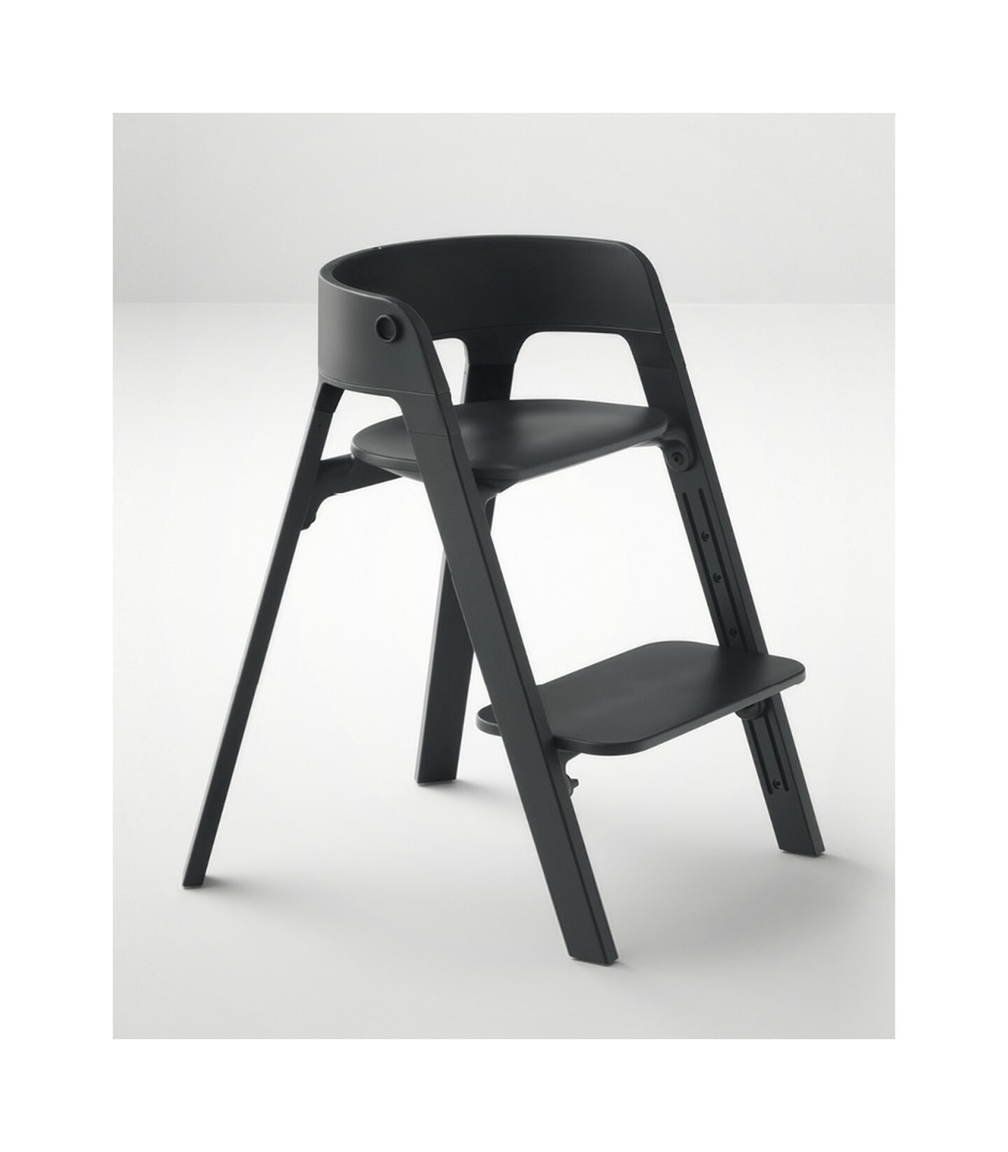 Stokke® Steps™ Beech Black wood legs and Black seat. view 6