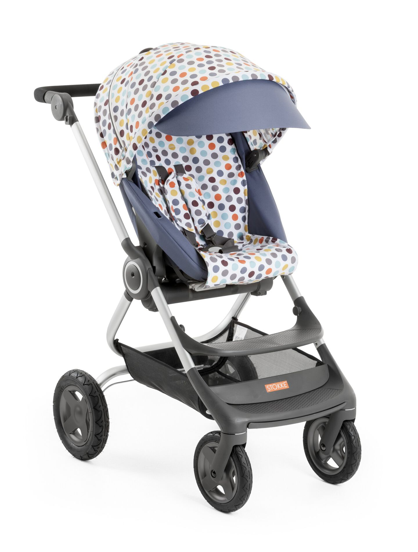 Stokke® Scoot™ Soft Pink with Style Kit Retro Dots.