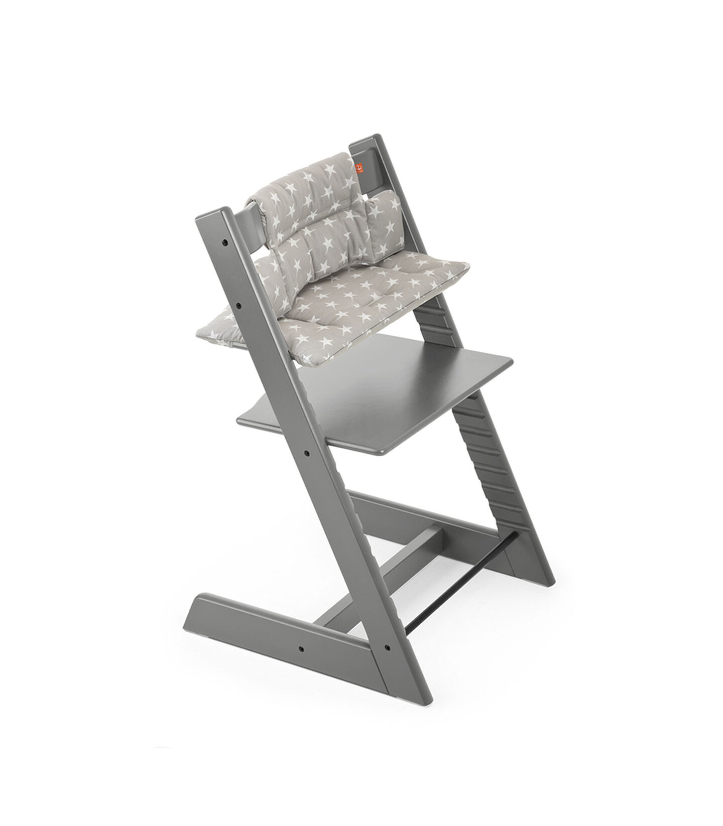 Tripp Trapp® Storm Grey with Grey Star Cushion.
