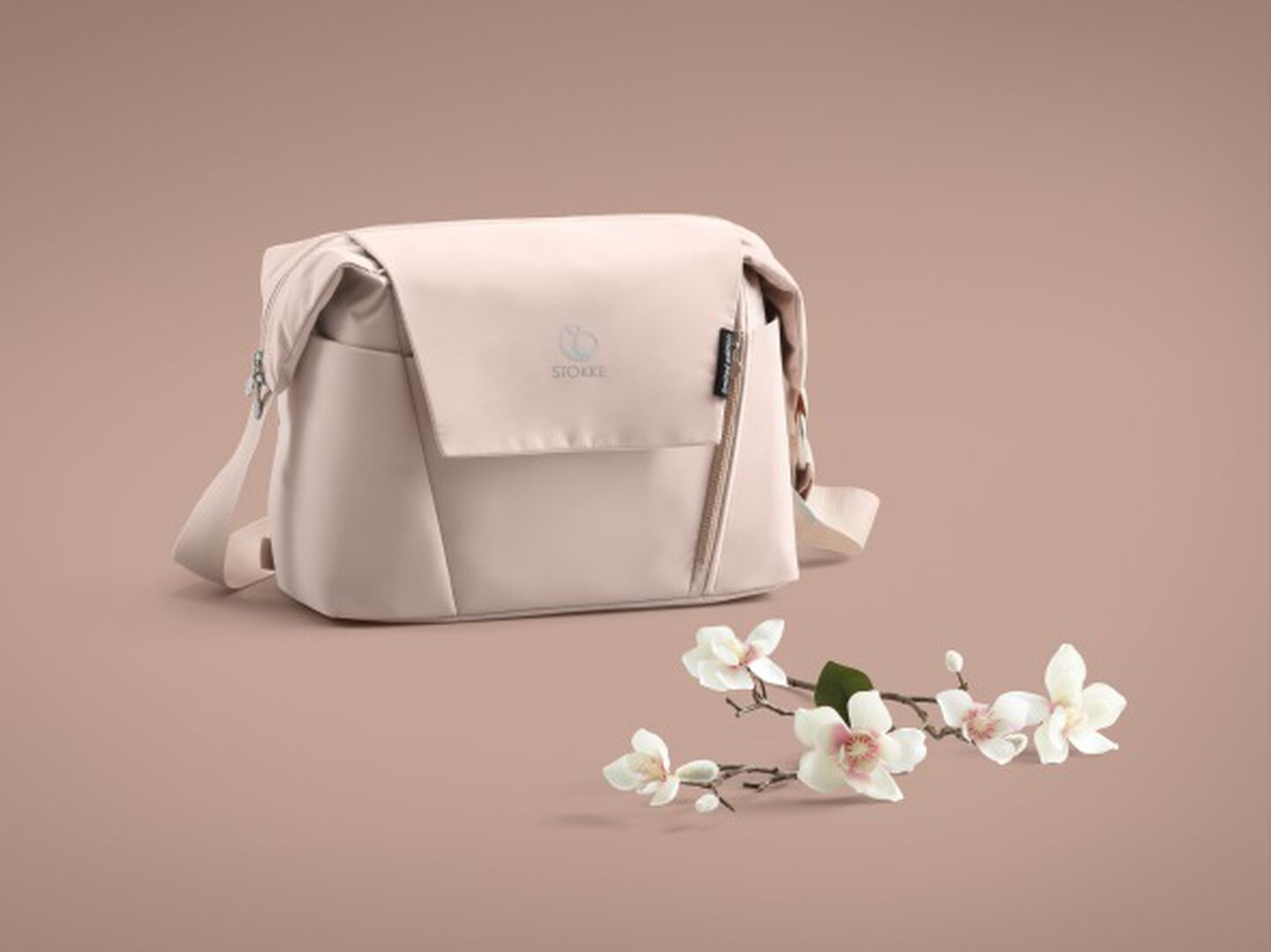Stokke® Changing Bag Balance Limited Edition. Soothing Pink. view 1