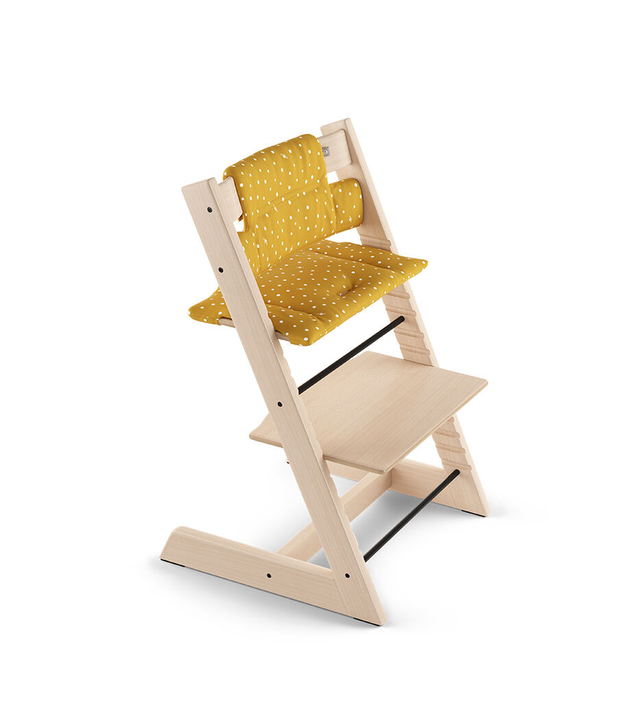 Tripp Trapp® Natural with Classic Cushion Ocker Bee.