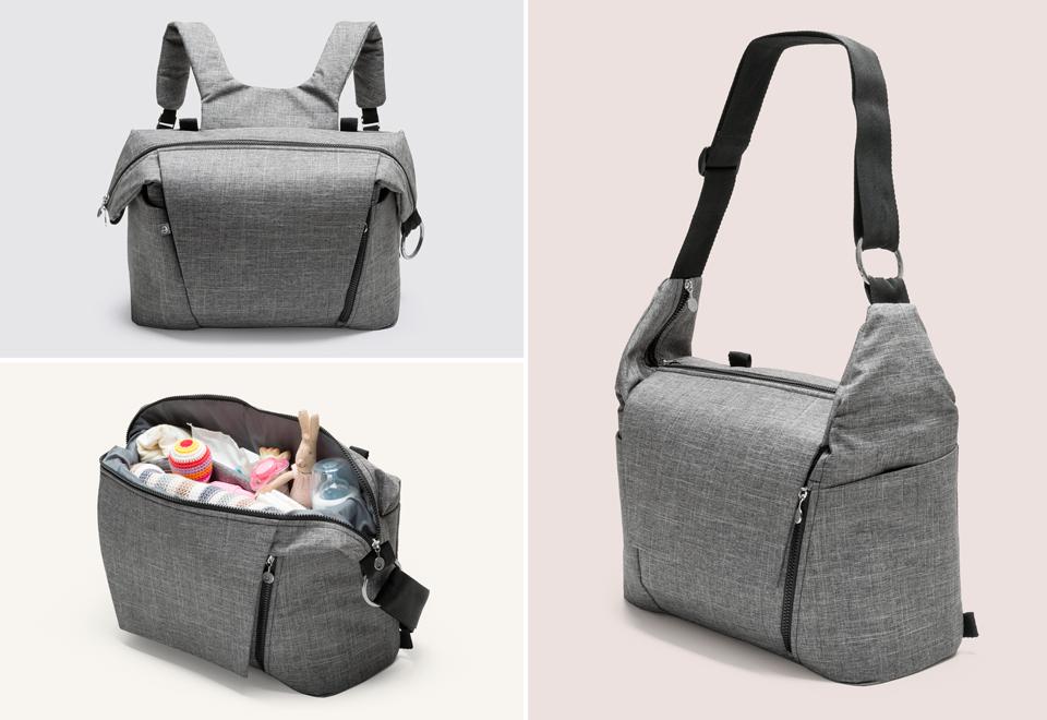 Was haben Sie in der Tasche? Alles, wenn Sie mit Ihrem Baby unterwegs sind.