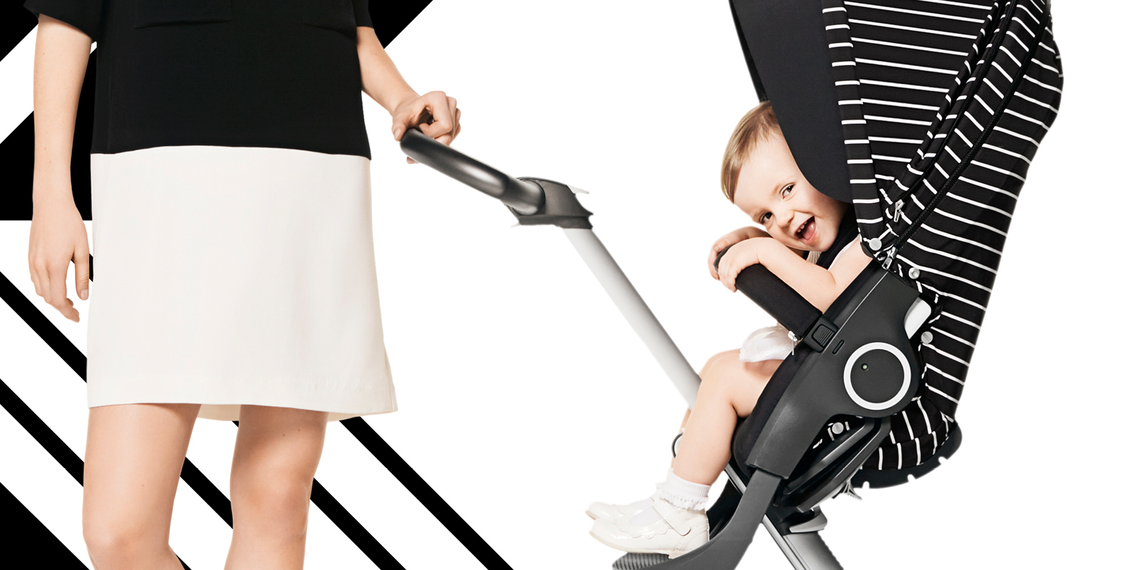 Stokke 174 Xplory 174 Black With White Stripe Style Kit