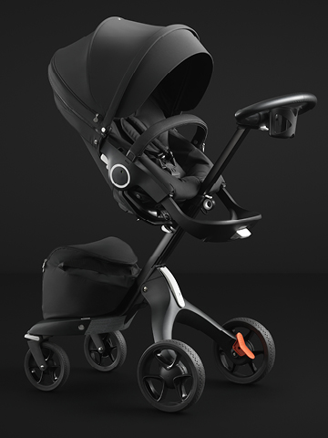 Stokke<sup>® </sup>Xplory<sup>® </sup> introduces <br> the all Black Chassis