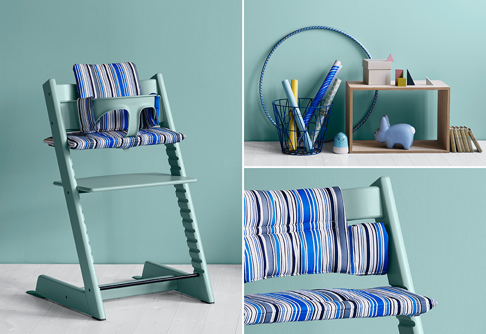 Tripp Tr Aqua Blue With Cushion Ocean Stripe