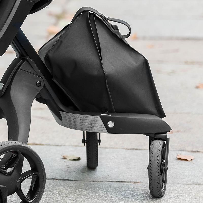Stokke® Xplory® Black Chassis with Black Handle Black Melange