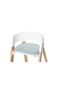 Stokke Steps White Seat Cushion Jade Twill