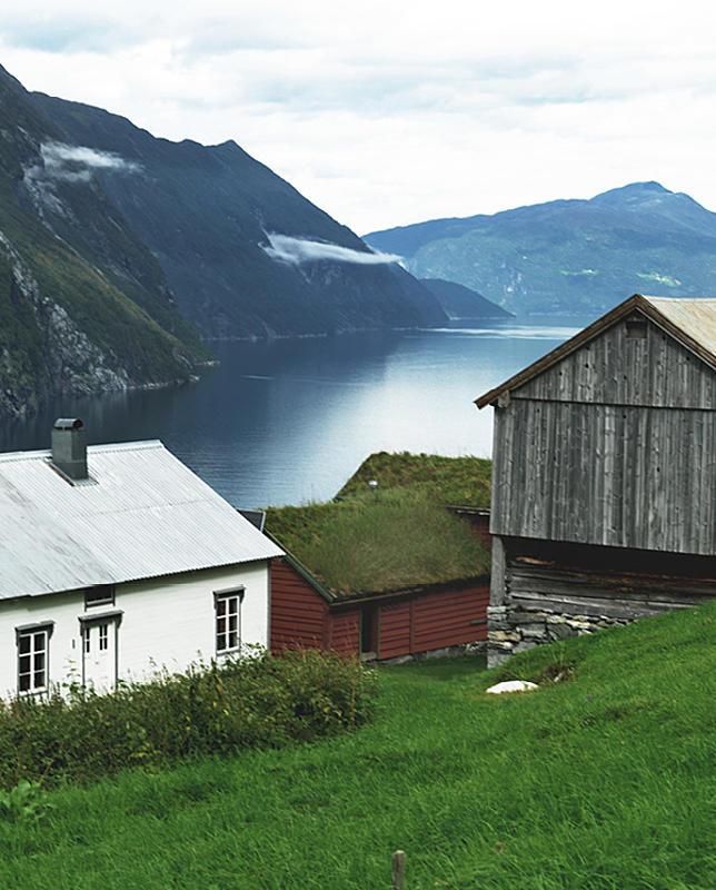 Häuser auf einem Hügel
