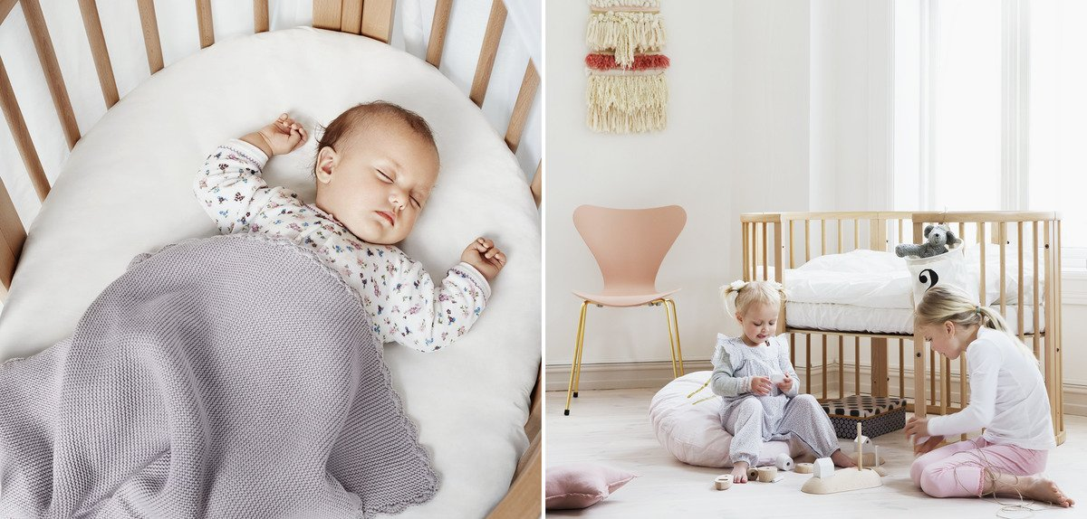 Stokke Sleepi make for beautiful sleep and play for babies and children