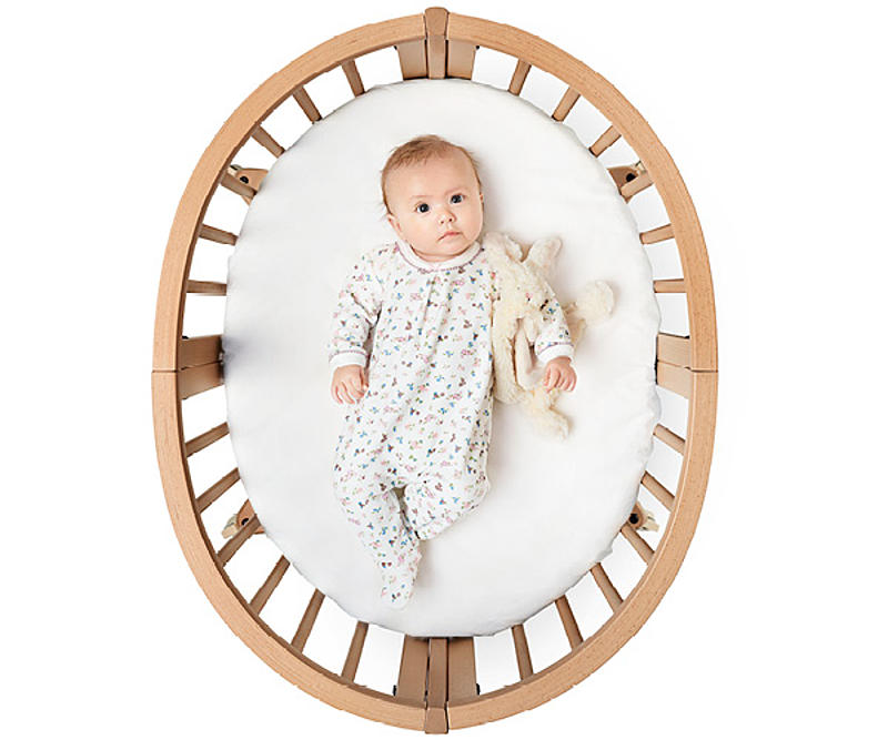 Baby in Stokke Sleepi bed