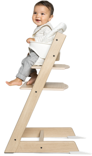 Tripp Trapp Natural with Baby Set White