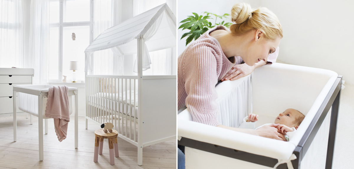 The Stokke Home Collection provides a full Scandinanvian nursery