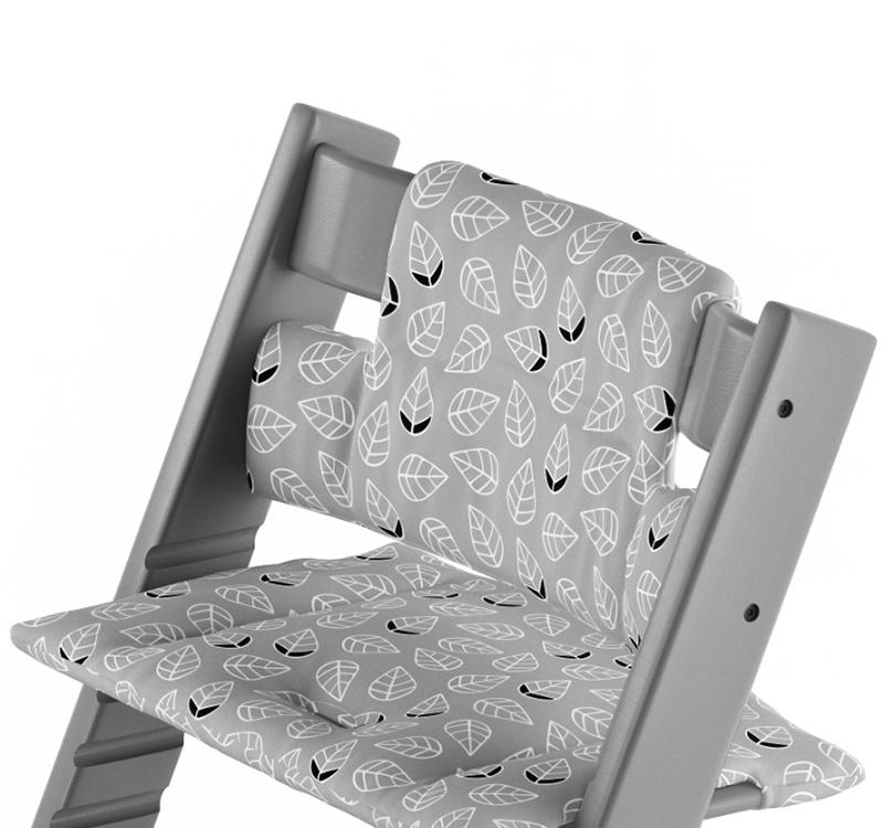 Tripp Trapp Cushion Grey Leaf