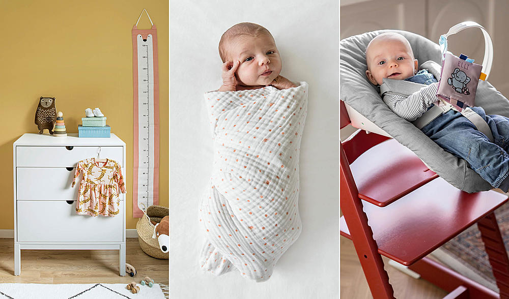 Collage of babies with newborn cover