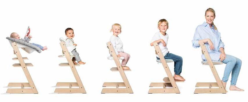 Hvor lenge kan man bruke en tripp trapp stol? Barn og
