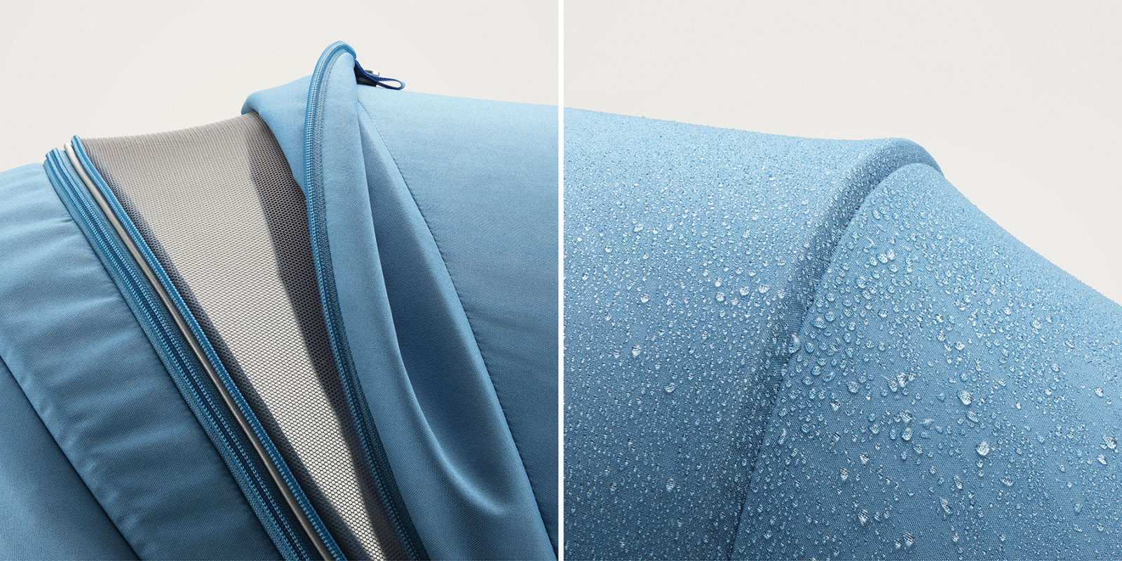 Stokke® Scoot™ Canopy details. Blue. Mainview.