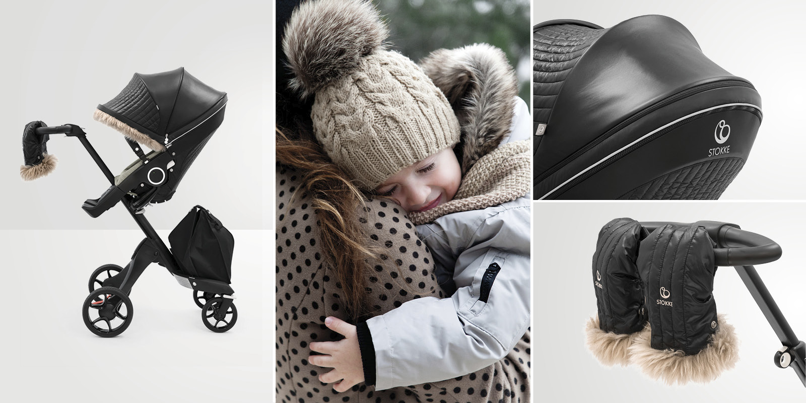 Stokke® Stroller Winter Kit Onyx Black, , emotional1