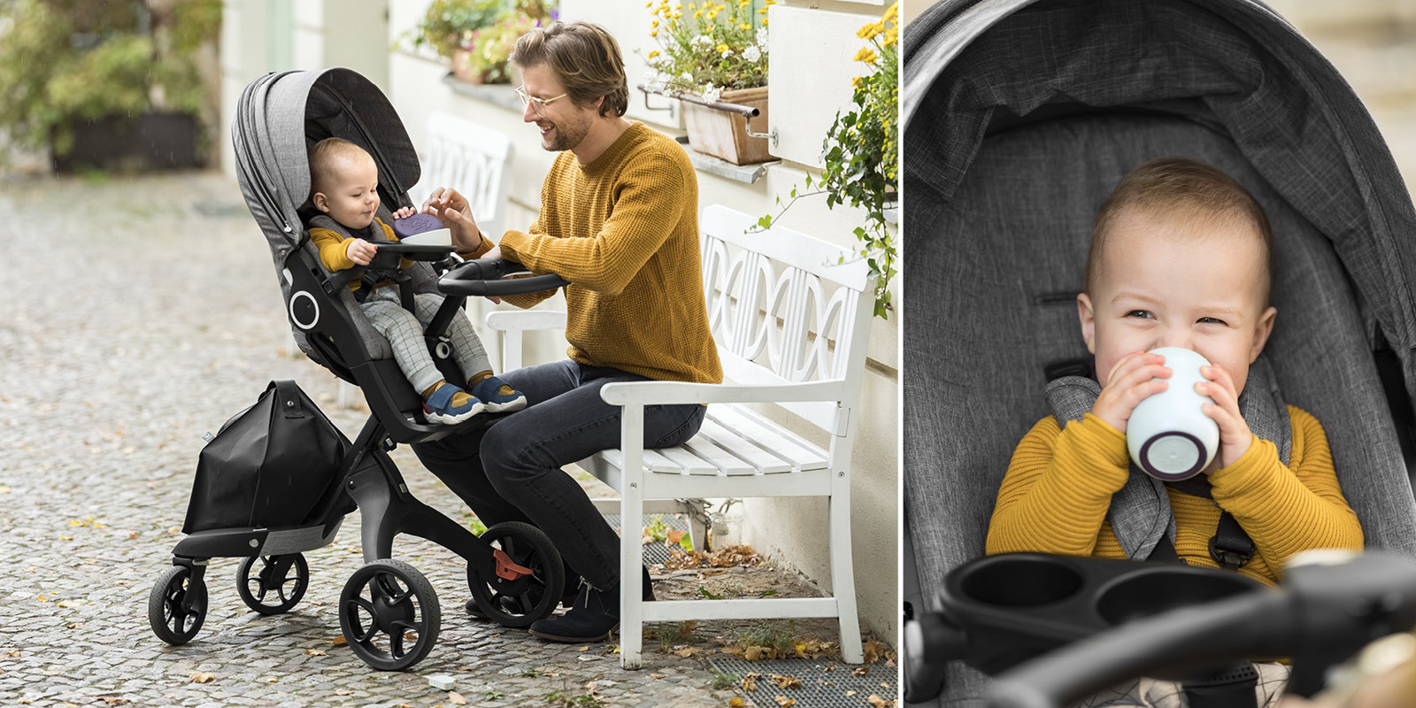 Stokke® Stroller Snack Tray Black, Black, emotional1