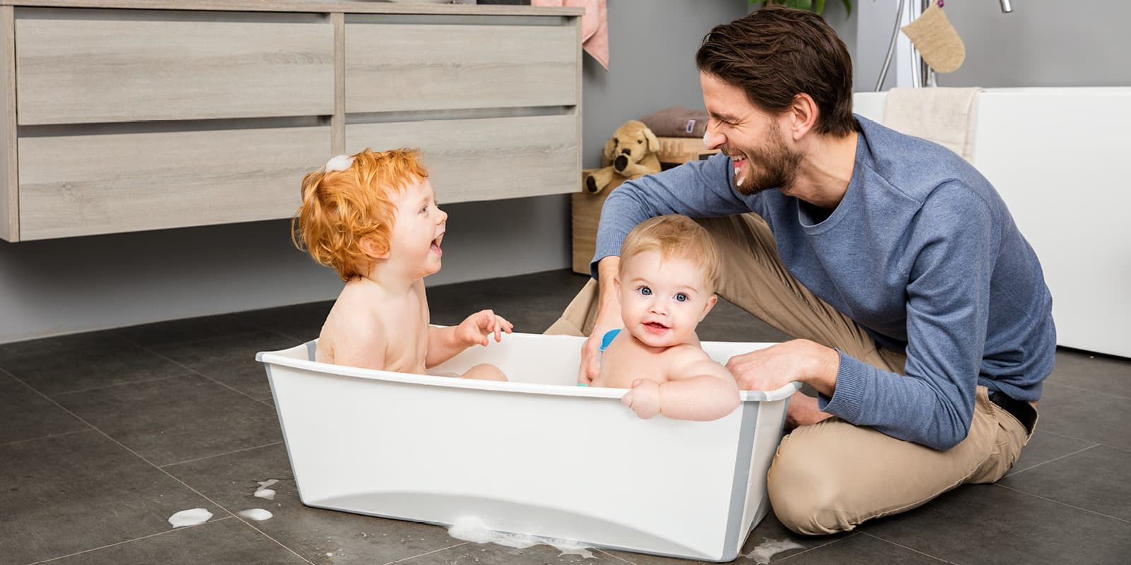 Stokke® Flexi Bath ® Large White Aqua, , emotional1