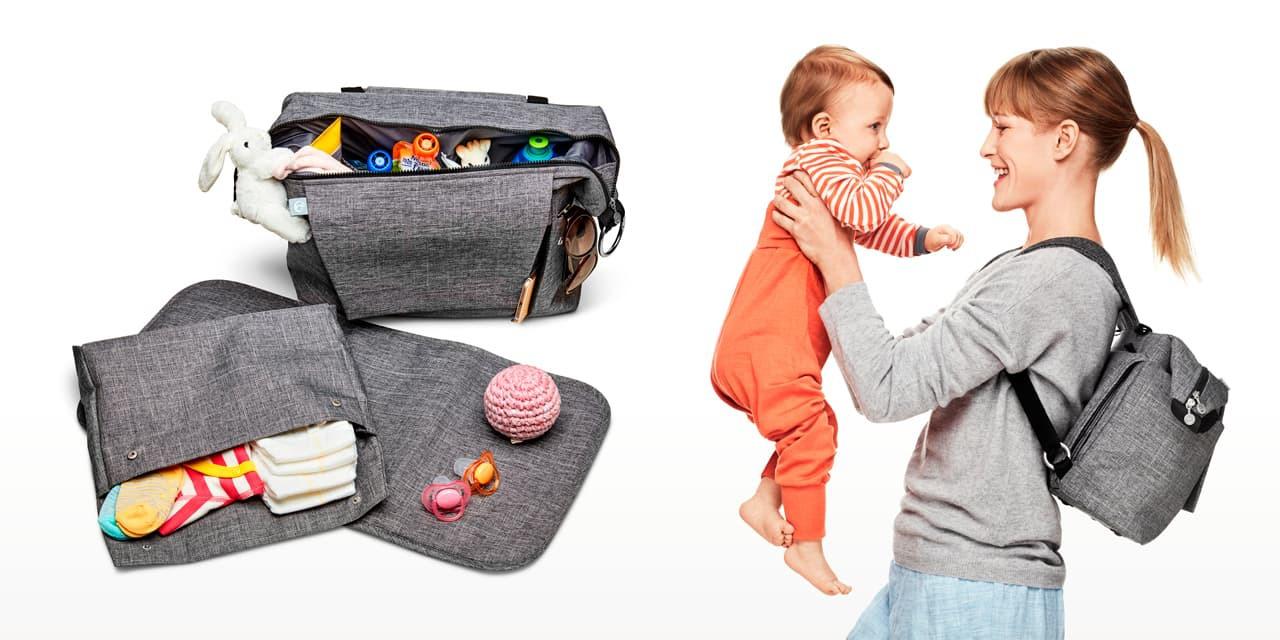 5683fef837e7f Stokke® Sleepi™ Mini, Natural. Fitted Sheet Aqua Straw. Stokke® Stroller Changing  Bag
