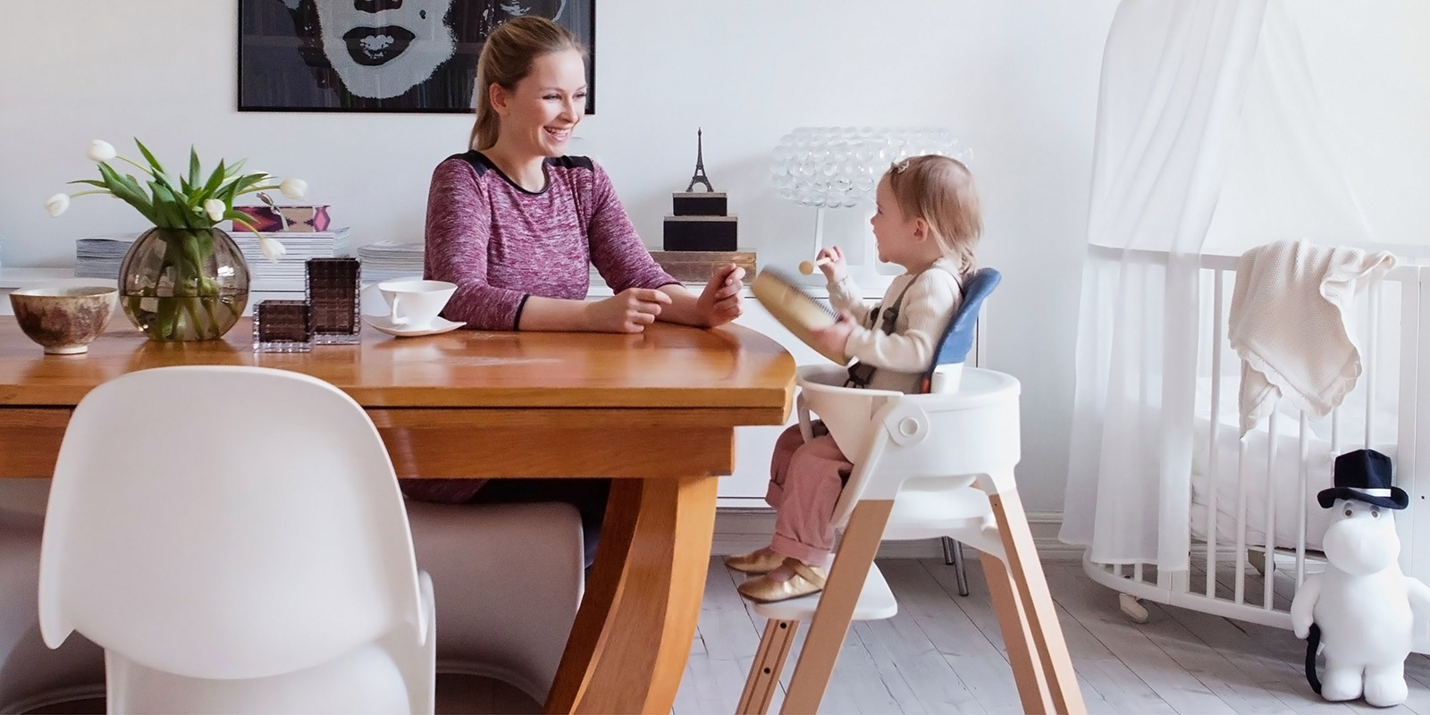 Stokke high chair blue - Stokke Steps Chair Mainbanner