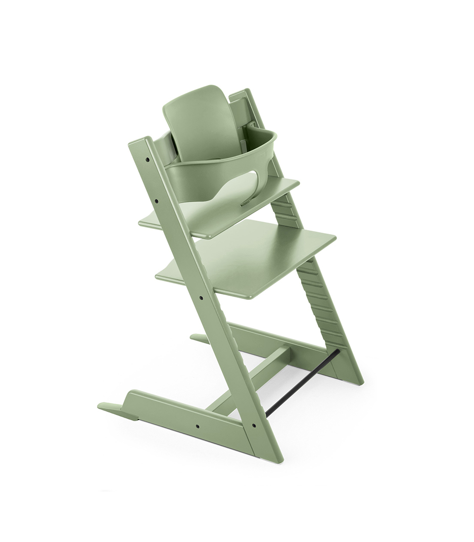 Tripp Trapp® Moss Green with Tripp Trapp® Baby Set, Moss Green.