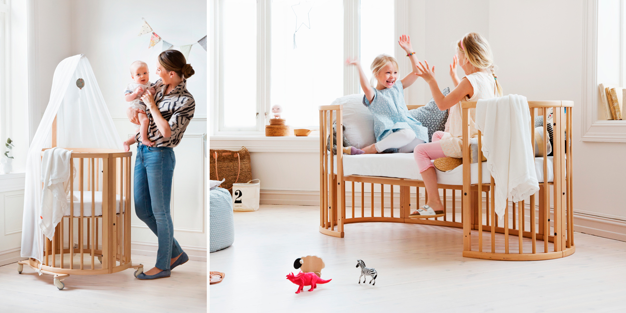 Stokke® Sleepi™ Mini and Stokke® Sleepi™ Junior Bed.