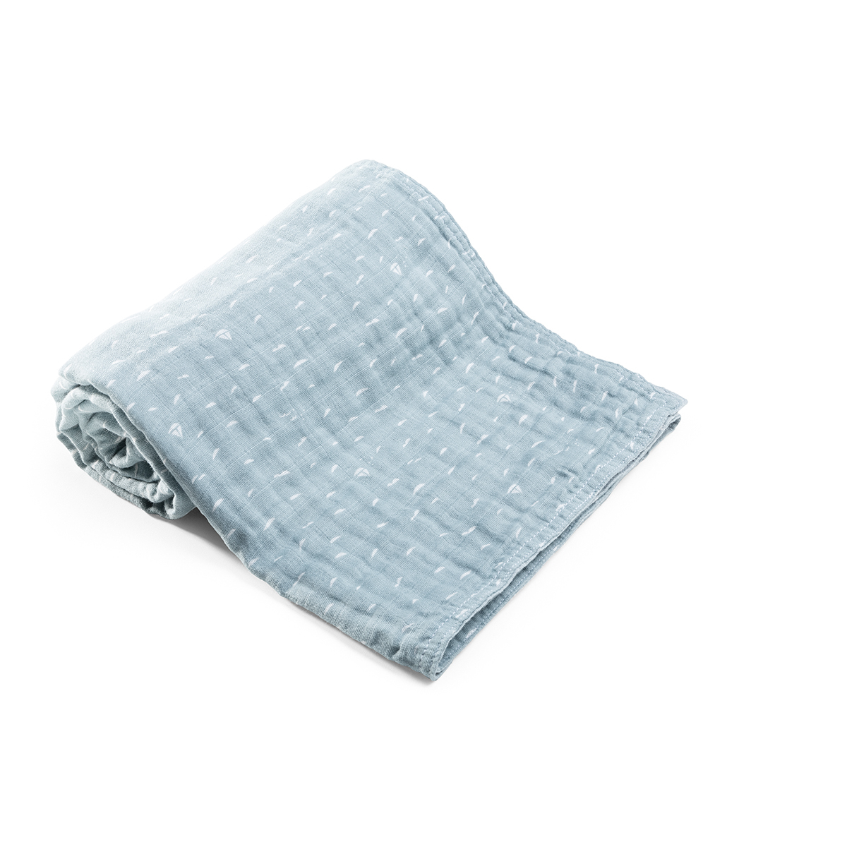 Blanket, Muslin Cotton, Slate Blue Sea