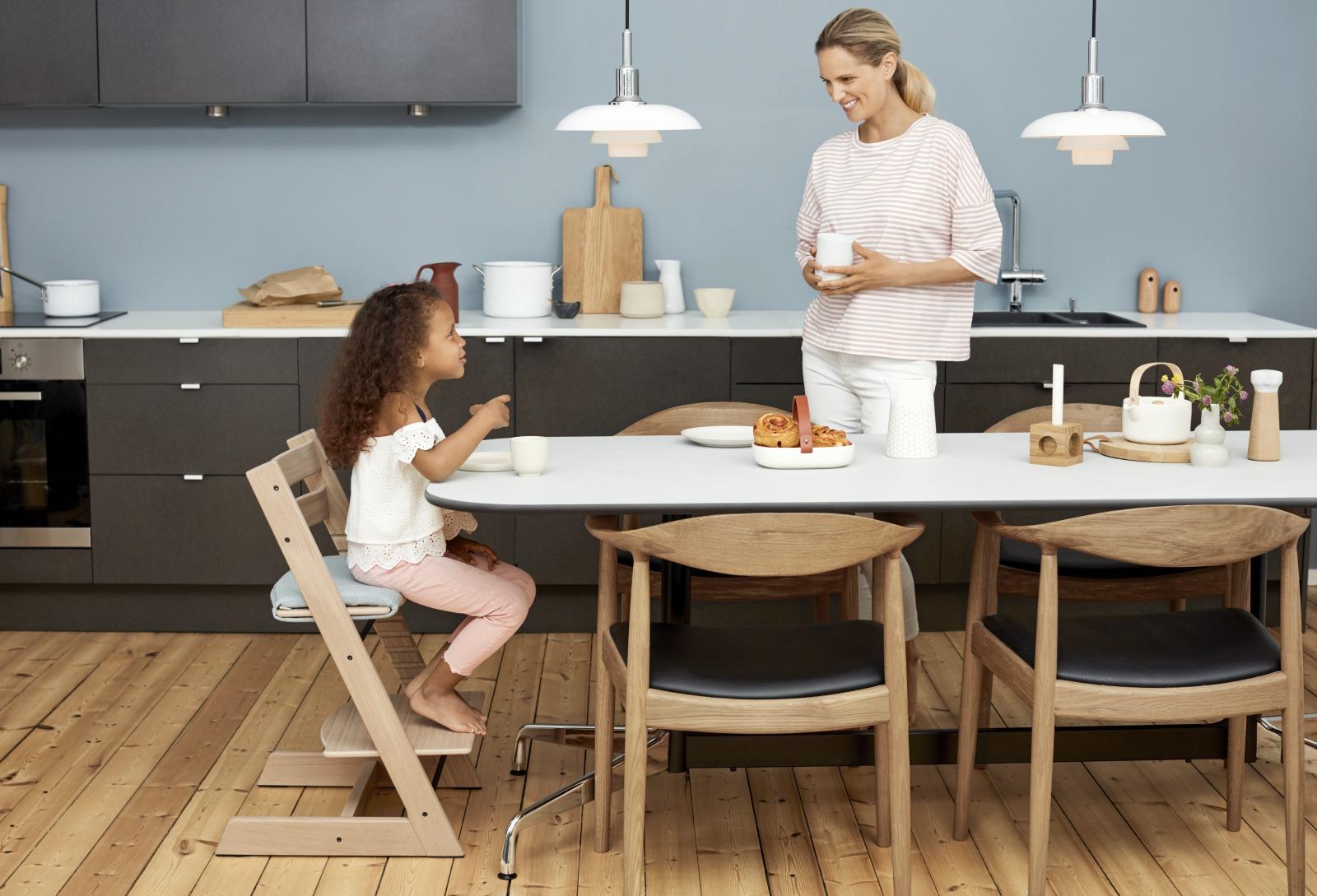 tripp trapp junior cushion slate twill. Black Bedroom Furniture Sets. Home Design Ideas