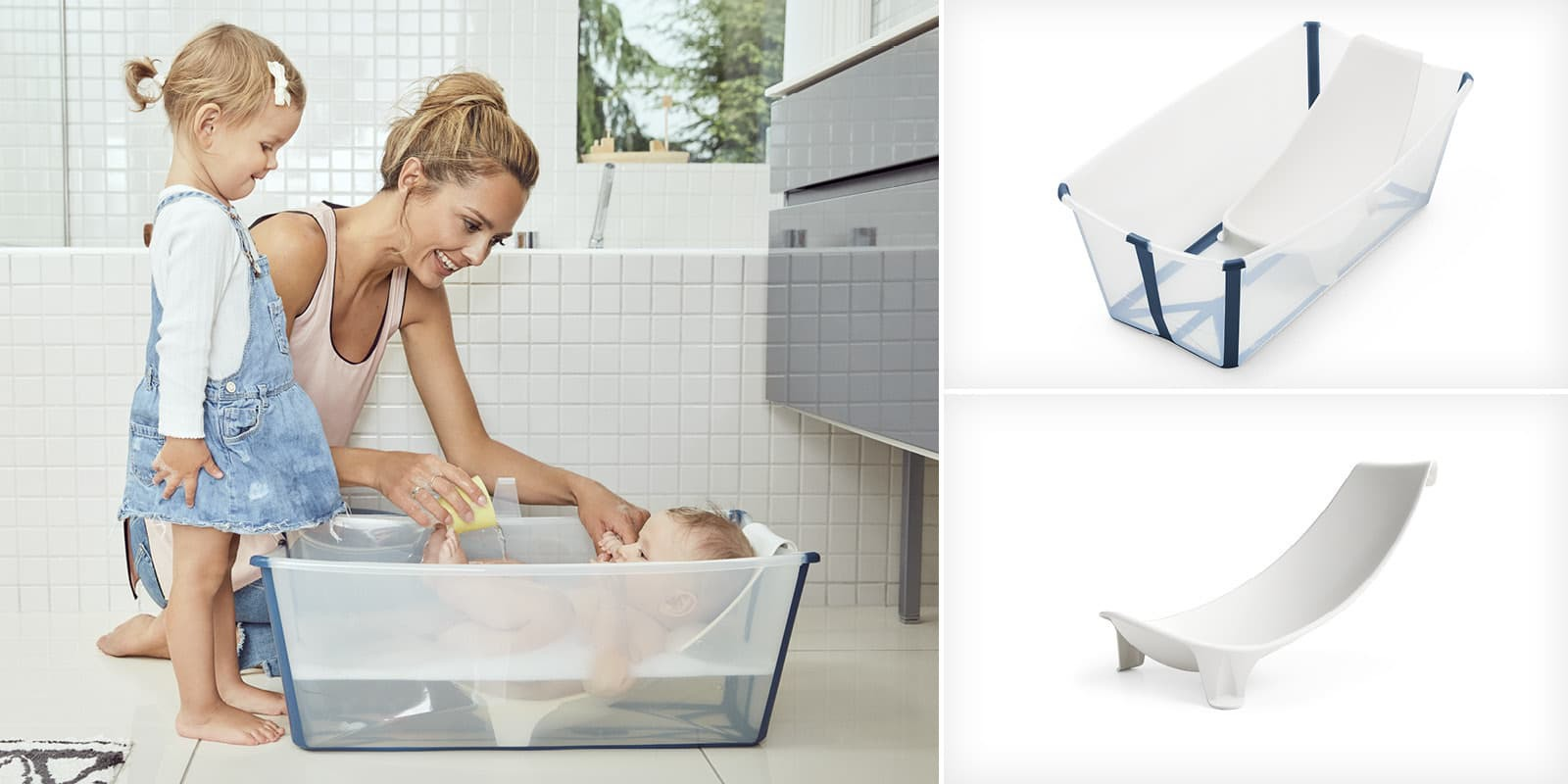 Stokke® Flexi Bath® Heat Bundle Transparent Blue, , emotional1