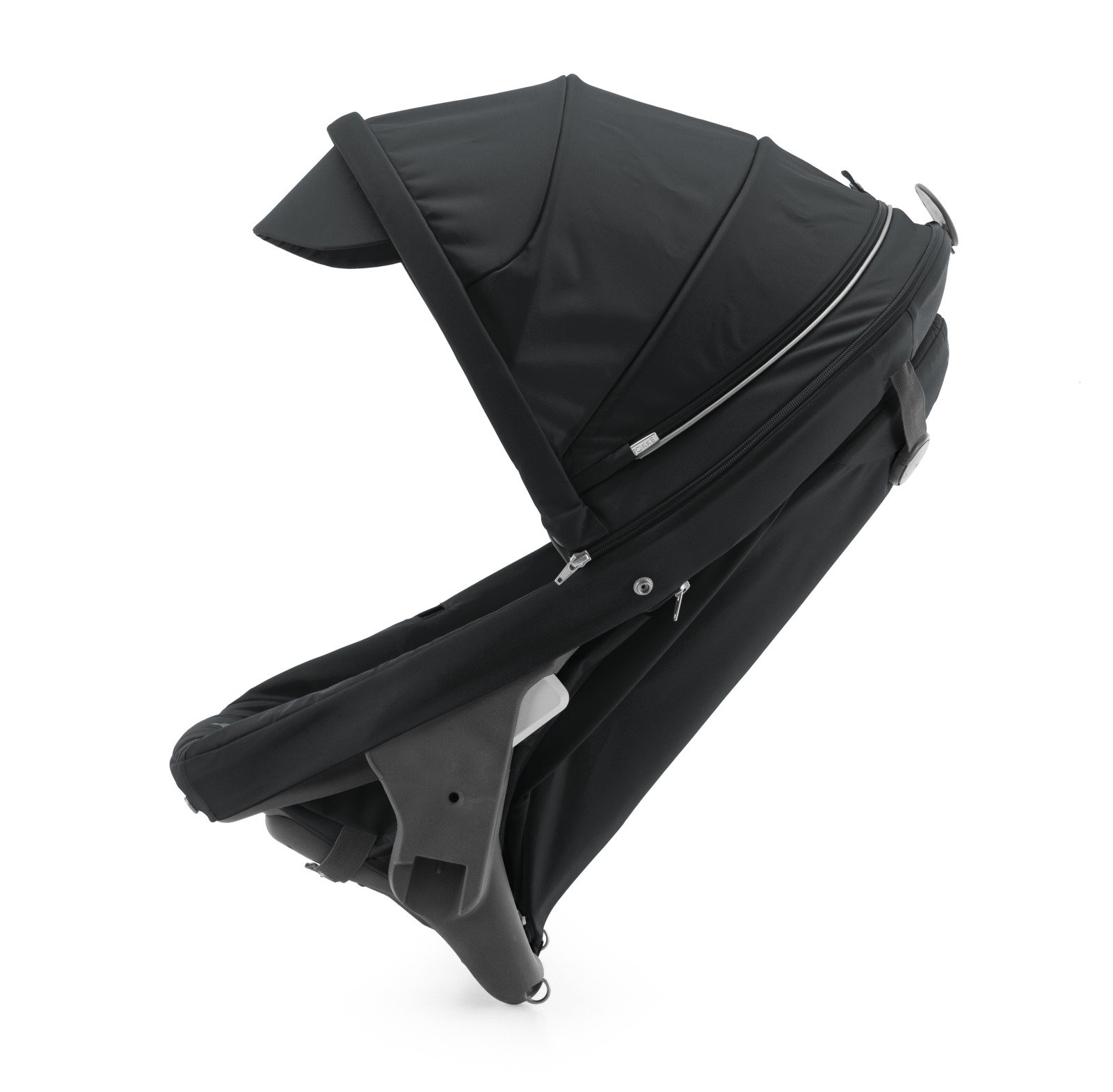 Stokke® Crusi™ Sibling Seat and sparepart seat for Stokke® Scoot™. Black.