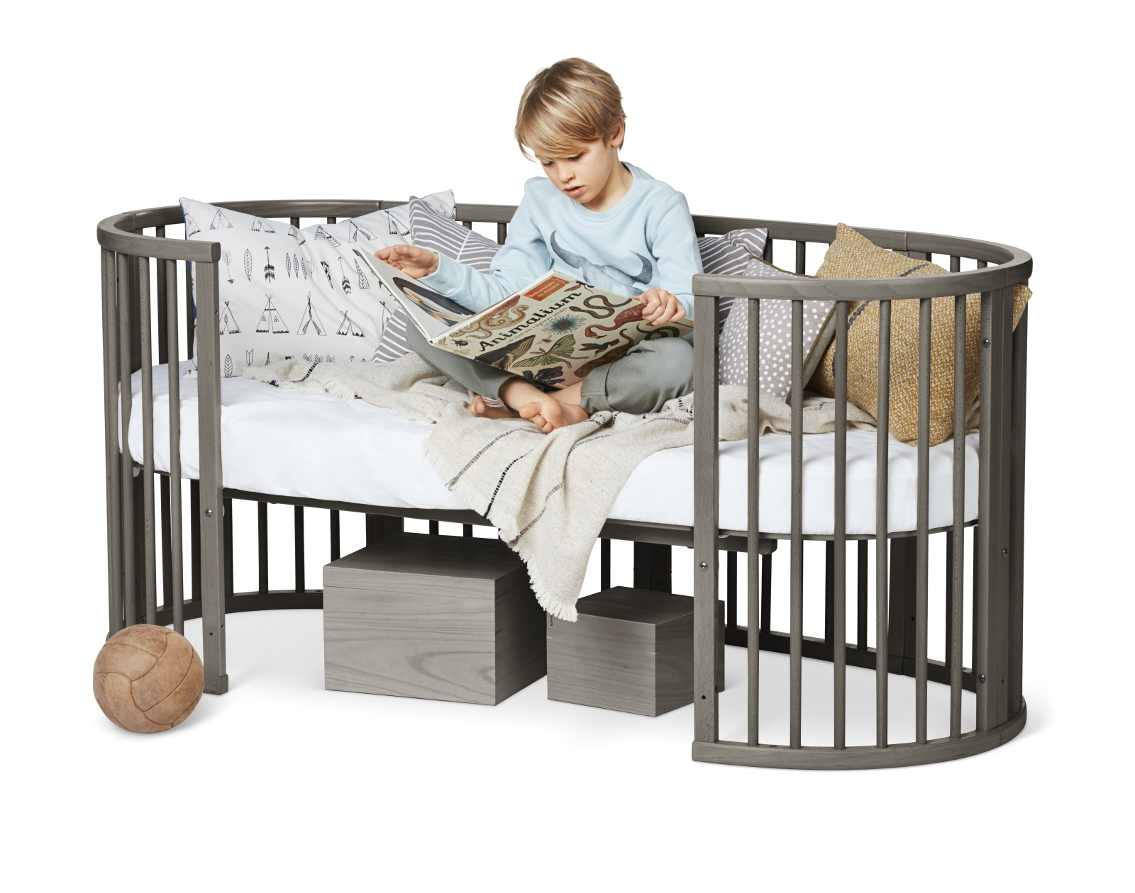 Stokke® Sleepi™ Junior Bed, Hazy Grey.