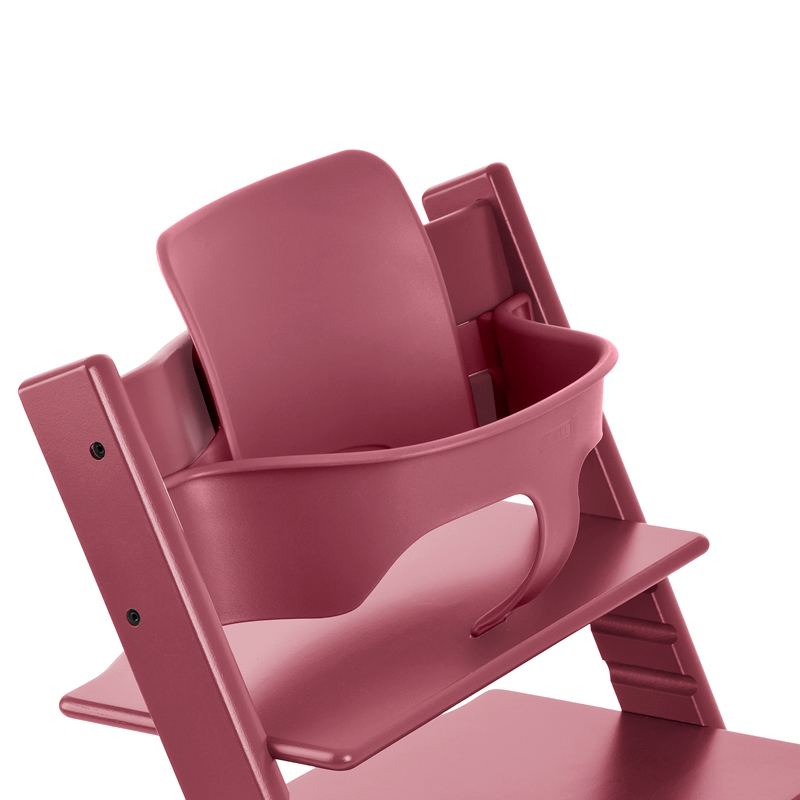 Tripp Trapp®, Heather Pink, with Baby Set Heather Pink. Detail.