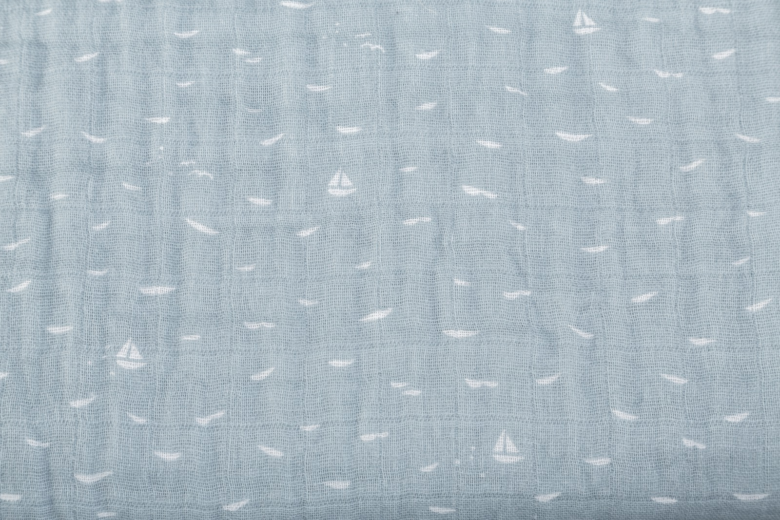 Stokke Textiles, Blanket Muslin Cotton Slate Blue Sea.